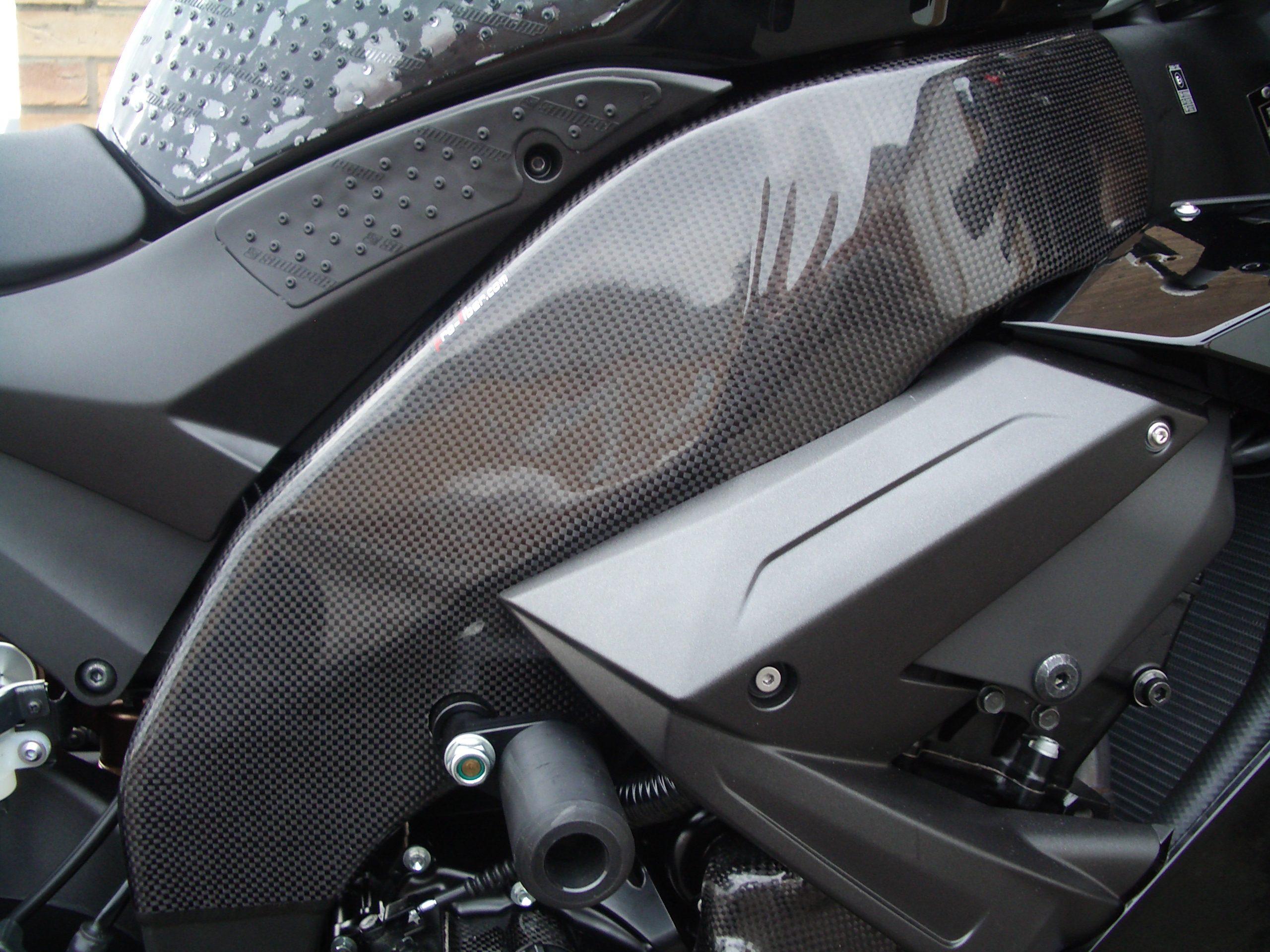 Frame Protector Carbon Motorcycle Kawasaki ZX6R 2009 Frame Protect