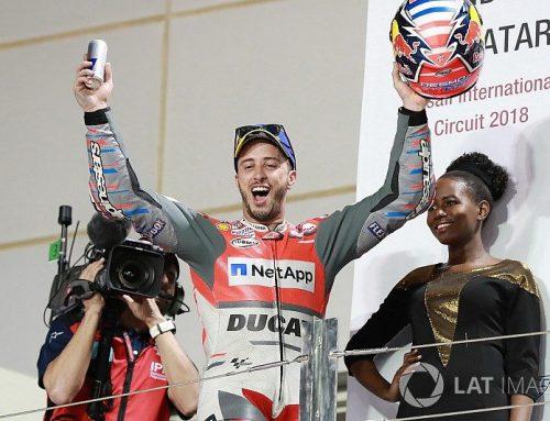 Qatar MotoGP: Dovizioso beats Marquez to win by 0.027s